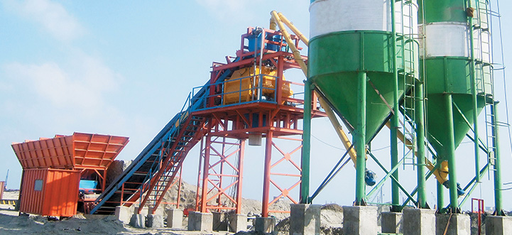concrete-batching Stationary Concrete Plant